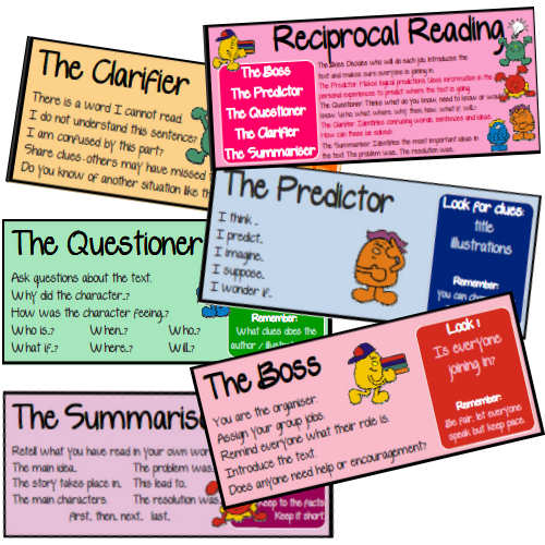 Reciprocal Reading Group Cards for Guided Reading : Leanne ...